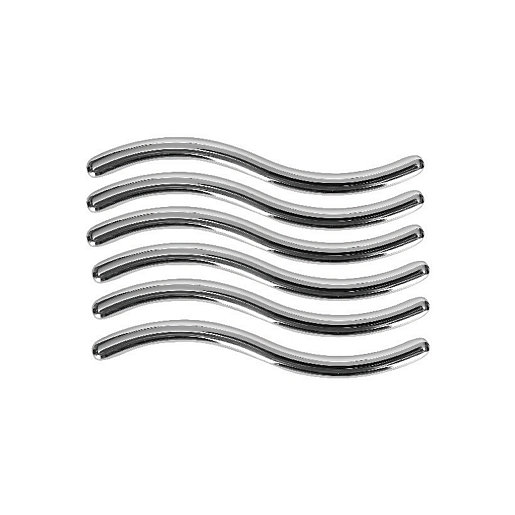 Wickes Wave Handles Polished Chrome Finish 108mm 6 Pack