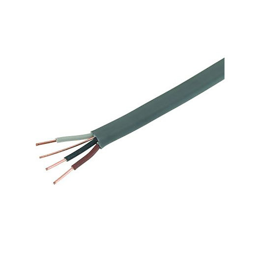 wickes 3 core earth cable grey x 50m. Black Bedroom Furniture Sets. Home Design Ideas