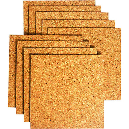 Wickes sealed cork flooring tile 305 x 305mm pack 9 for Cork floor tiles
