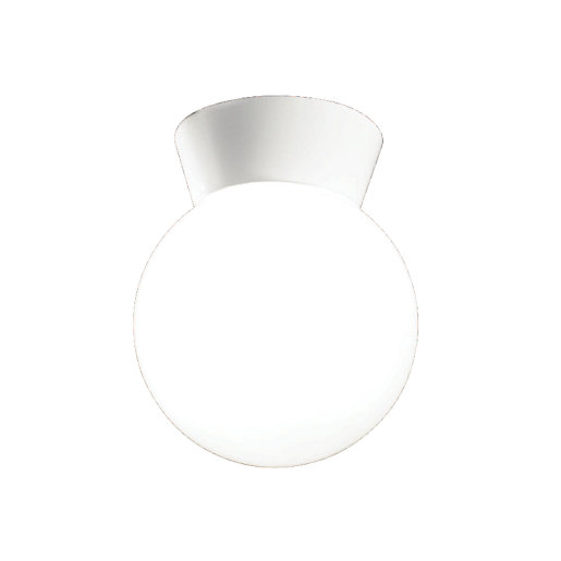 Wickes Kitchen Pendant Lights: Wickes Globe White Ceiling Light - E27