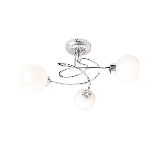 Ceiling Light Hook Wickes : Wickes miliani brushed chrome pendant ceiling light w