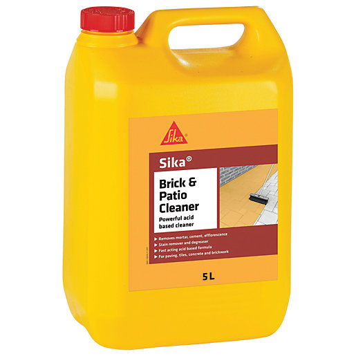 Sika brick and patio cleaner 5l for Cement cleaning solution