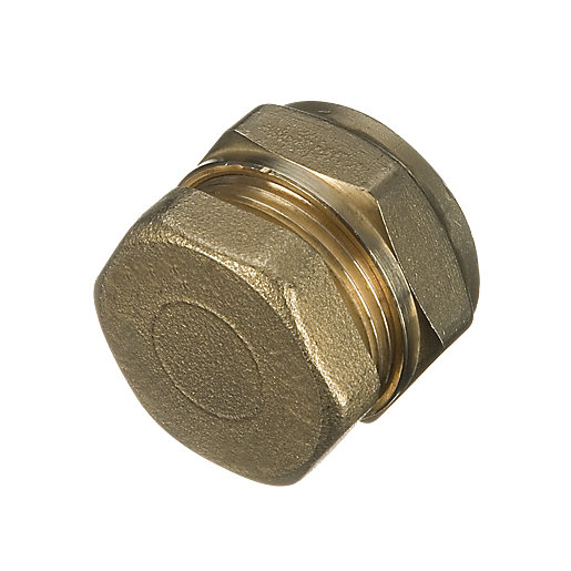 Wickes brass compression stop end cap mm pack