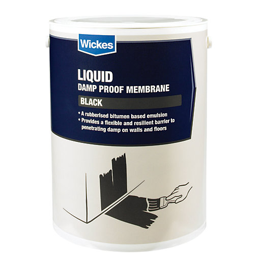 Wickes bitumen damp proof membrane liquid 5l - Damp proofing paint for exterior walls ...