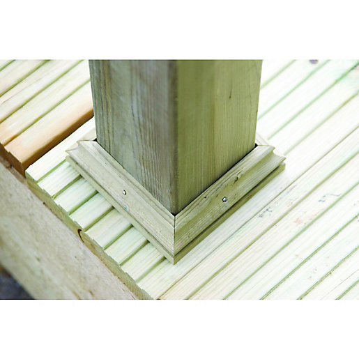 Wickes deck post base finishing kit green mm