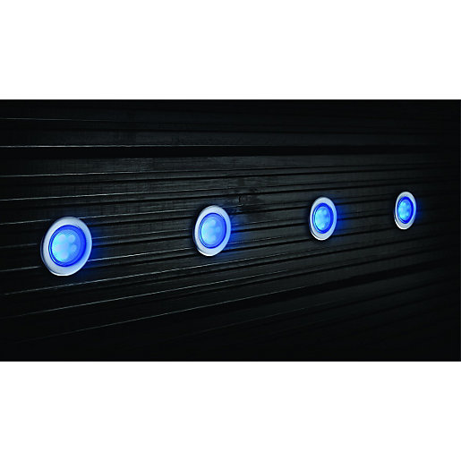 Wickes Blue LED Deck Lights Extension Kit 45mm 1W - Pack ...