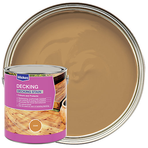 f p cedar exterior wood stain finish and preservative. wickes decking stain - cedar 2.5l f p exterior wood finish and preservative