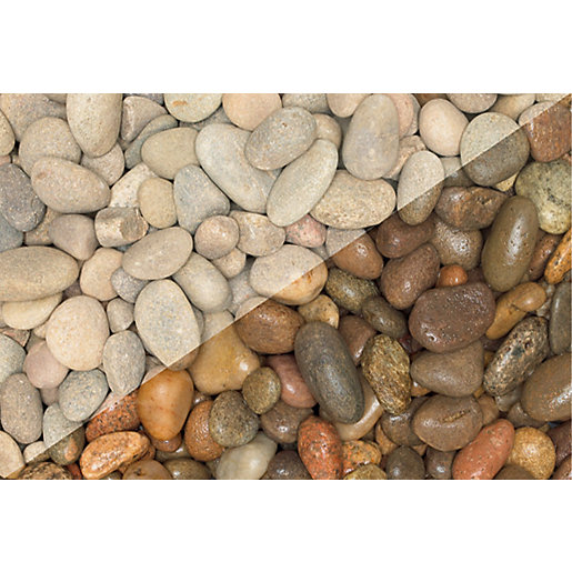 Wickes beach pebbles jumbo bag for Landscape rock delivery near me