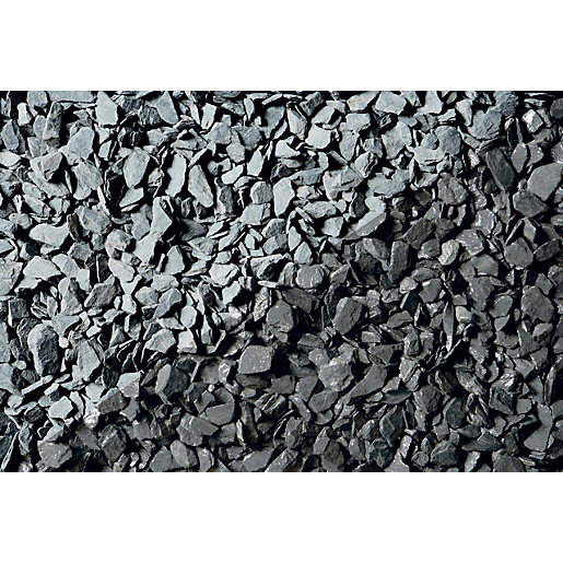 Names Of Decorative Stones : Wickes blue slate chippings jumbo bag