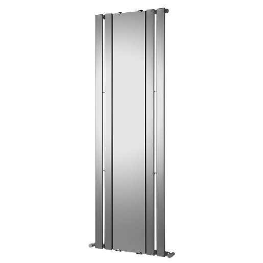 Wickes zone vertical mirror designer radiator chrome for Mirror radiator