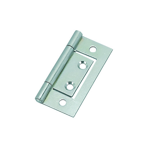 Wickes Flush Hinge Zinc Plated 51mm 2 Pack Wickes Co Uk