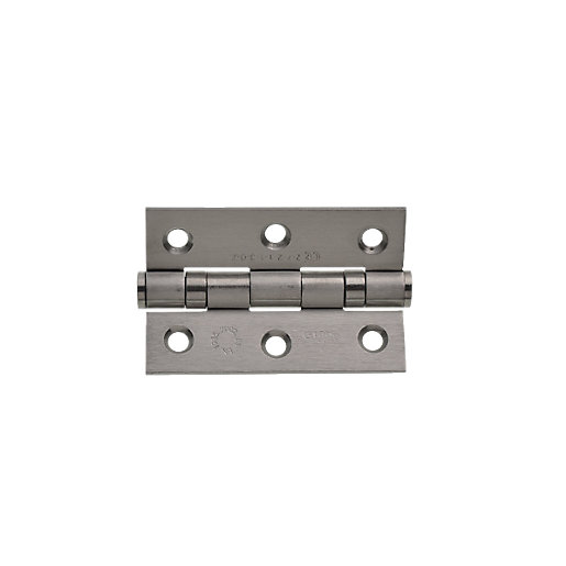 Wickes Grade 7 Fire Rated Ball Bearing Hinge Satin