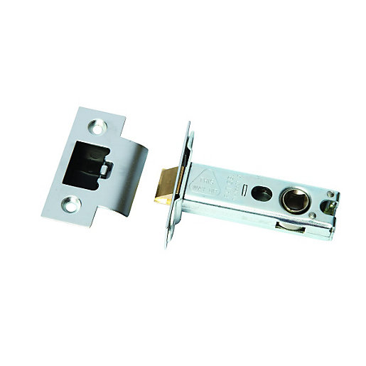 door locks. heavy duty tubular latch nickel plated 76mm door locks