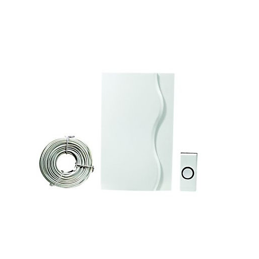 Wickes Wired Door Chime Kit White | Wickes.co.uk
