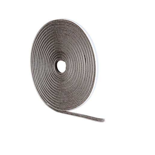 Wickes pile tape draught seal grey 5m for Door draught excluder