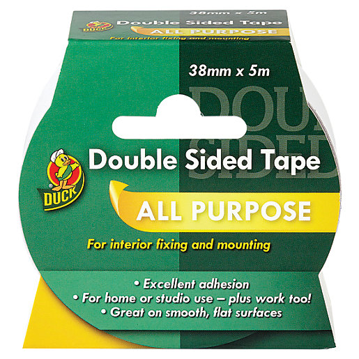 Duck Tape Double Sided Tape White 38mm X 5m Wickes Co Uk