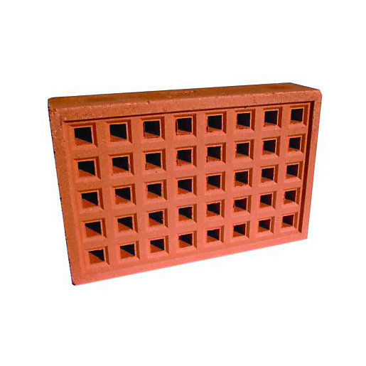 Wickes Square Hole Clay Airbrick 215mm X 140mm Wickes