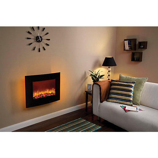 quattro wall hung electric fire. Black Bedroom Furniture Sets. Home Design Ideas