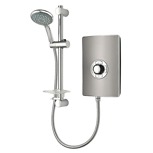 Trition Style 9 5kw Electric Shower Gun Metal Effect
