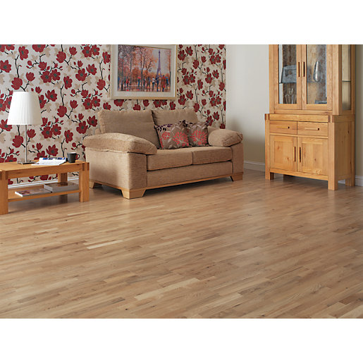... Real Wood Flooring. Mouse over image for a closer look. - Westco Artena Oak Real Wood Flooring Wickes.co.uk