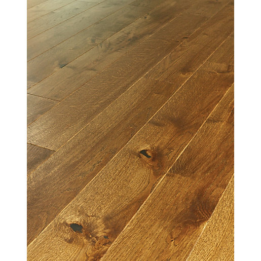 ... Real Wood Flooring. Mouse over image for a closer look. - Westco Jacobean Oak Real Wood Flooring Wickes.co.uk