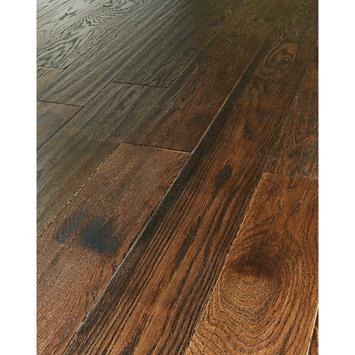 wickes gunstock oak real wood top layer engineered wood