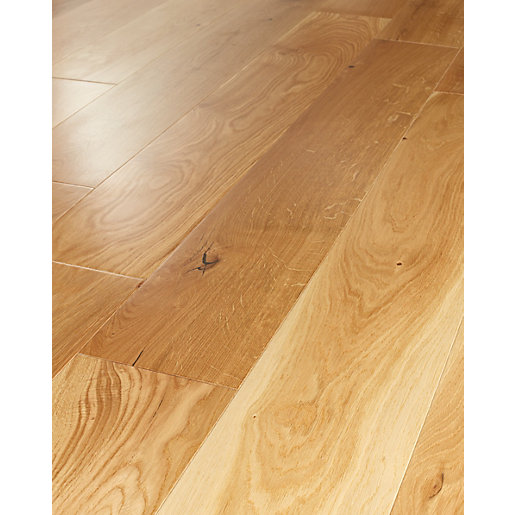 Wickes heritage oak real wood top layer engineered wood for Engineered oak flooring