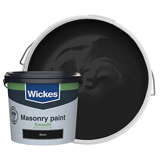 Wickes Smooth Masonry Paint - Black 5L