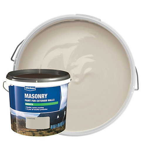 Wickes Smooth Masonry Paint Sandstone 5l