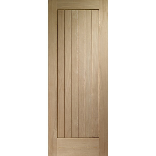 Wickes geneva external cottage oak veneer door 1981 x for External hardwood doors
