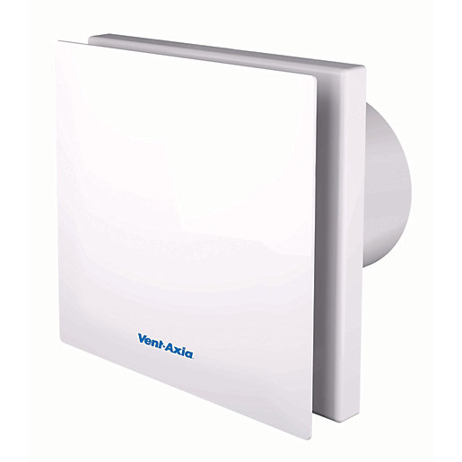 Vent Axia Silent Bathroom Fan With Timer White 100mm