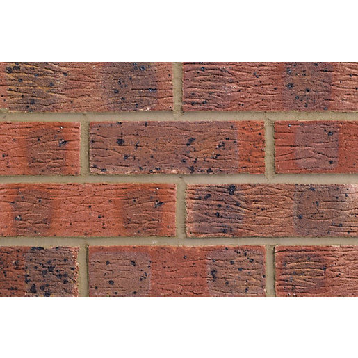 Lbc claydon multi red facing brick 65mm for What to do with bricks