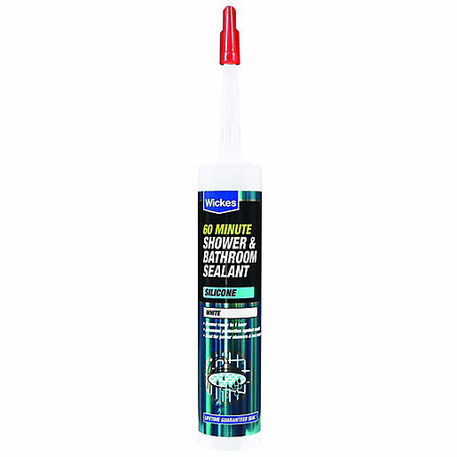 Mouse over image for a closer look. Wickes 60 Minute Shower   Bathroom Sealant White 310ml   Wickes co uk