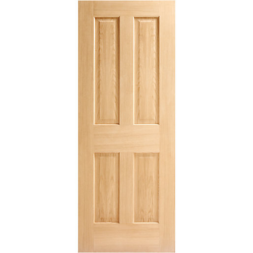 wickes cobham internal fire door oak veneer 4 panel