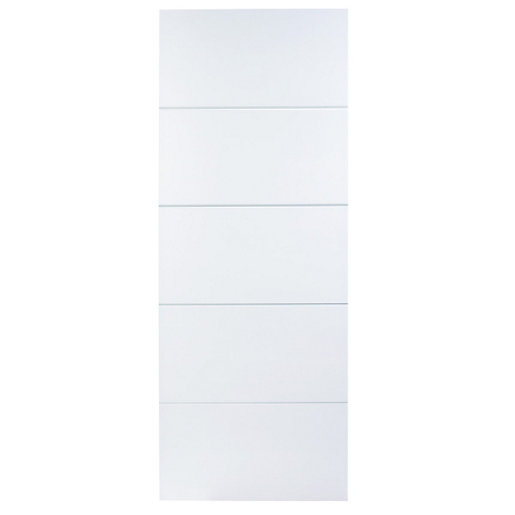 Wickes Halifax Internal Fire Door White Moulded 5 Panel