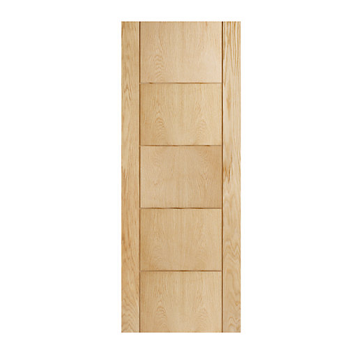 wickes thame internal fire door oak veneer 5 panel