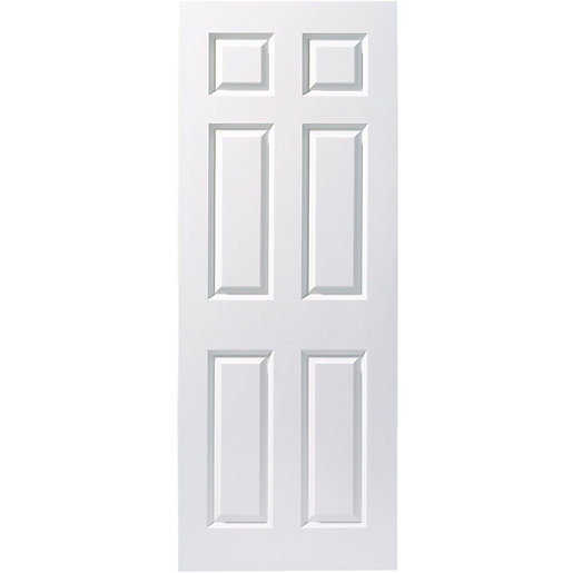 Wickes Woburn Internal Fire Door White Smooth Moulded 6 Panel