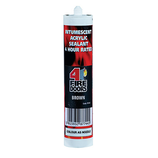 Fire Resistant Caulking : Firedoors intumescent acoustic acrylic sealant brown