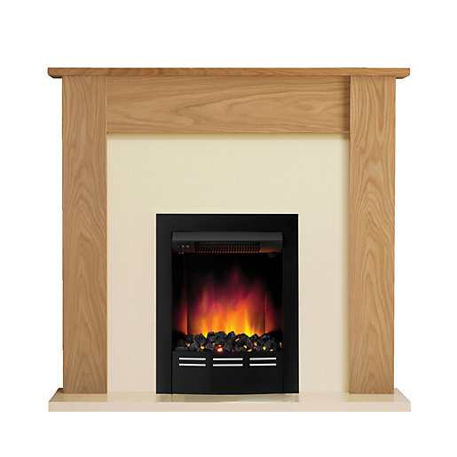 be modern colston eco electric fire suite. Black Bedroom Furniture Sets. Home Design Ideas
