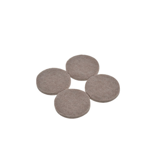 Wickes Heavy Duty Round Felt Pad Self Adhesive 38mm Pack 4