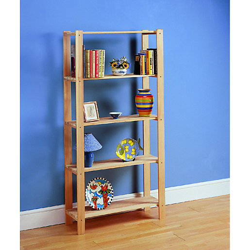 Wickes 5 Tier Pine Shelving Unit Wickes Co Uk