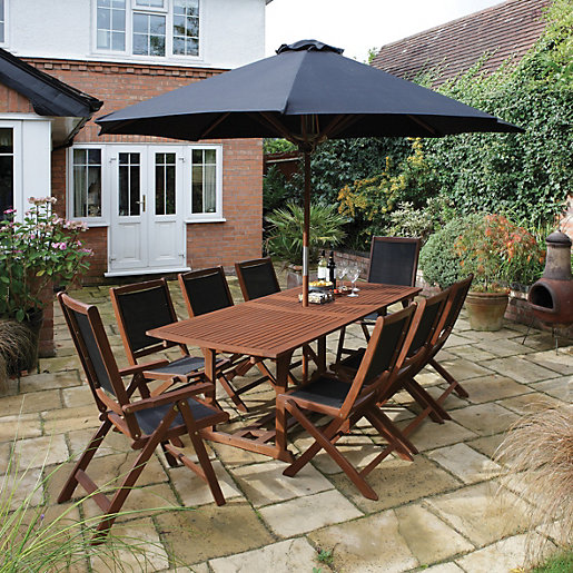 Rowlinson Bali Hardwood Garden Furniture Set  Mouse over image for a  closer look. Rowlinson Bali Hardwood Garden Furniture Set   Wickes co uk