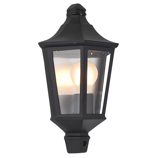 Landscape Lighting Naples Fl: Wickes Naples Black Half Lantern - 60W