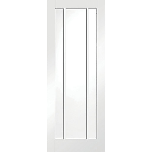 wickes worcester internal glazed door white primed 3 panel. Black Bedroom Furniture Sets. Home Design Ideas