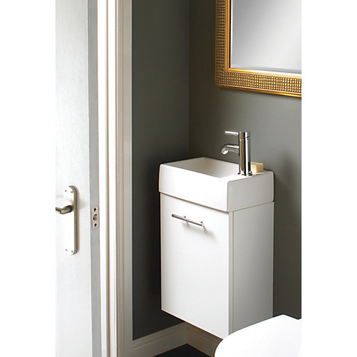 Vanity Units For Bathroom Wickes wickes mode compact vanity unit with basin (lh) | wickes.co.uk
