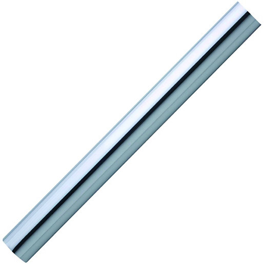 Polished chrome effect finish handrail 40 x 1800mm for Mineral wool pipe insulation weight per foot