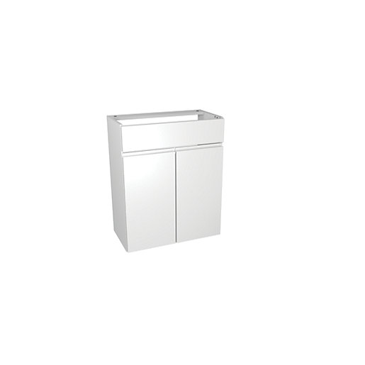 wickes hertford white gloss fitted vanity unit 600 mm. Black Bedroom Furniture Sets. Home Design Ideas