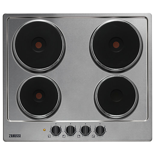 Kitchen Outlet Hob ~ Zanussi cm electric hob stainless steel zee fxk