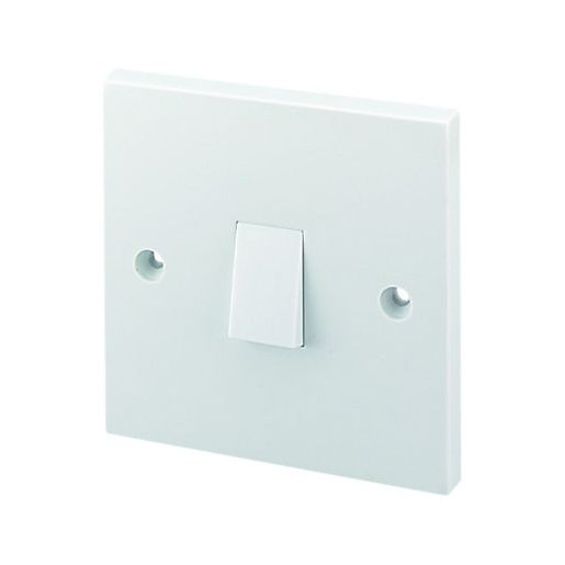 wickes 10a light switch 1 gang 1 way white | wickes.co.uk, Wiring diagram