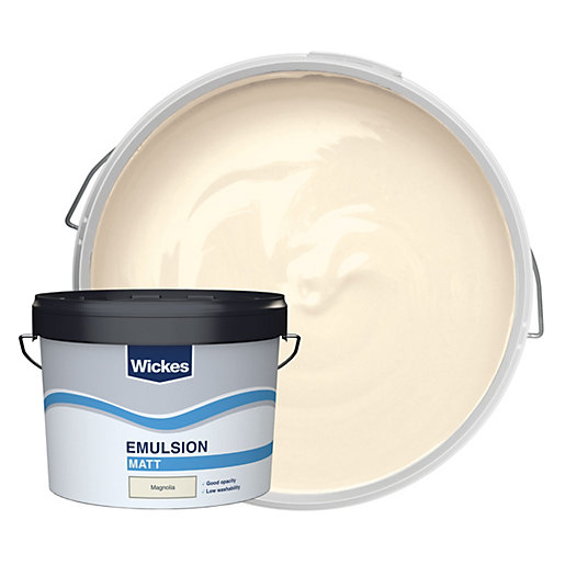 Wickes trade vinyl matt emulsion paint magnolia 10l for Can you use emulsion paint on canvas